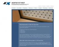 Bild Webseite Agentur Ost-West Fremdsprachenservice Köln