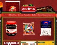 Bild Webseite Akkoyun Süßwarengroßhandel Nürnberg