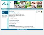 Website Aktiv-Haus gemeinnützige Ges. zur Gesundheitsförderung