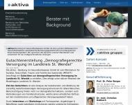 Bild Webseite AKTIVA Beratung im Gesundheitswesen Köln