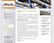 Bild Webseite Albert Block Hamburg