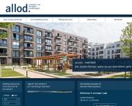 Bild Webseite allod Immobilien- und Vermögensverwaltungsges. Berlin