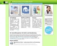 Bild Webseite Allee Hausverwaltung und Immobilien Berlin