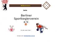 Bild Webseite Berliner Sportkeglerverein Berlin