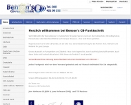 Bild Webseite Benson's CB-Funktechnik Hofmann Hamburg