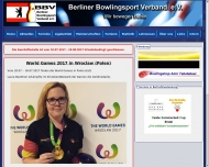 Bild Webseite Berliner Bowlingsport Verein e. V. Berlin