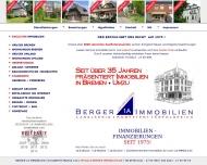 Bild Webseite Berger 1A Immobilien Inhaber Hans-Jürgen Berger Bremen