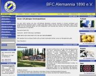 Bild Webseite Berliner Fußball-Club Alemannia 1890 Berlin