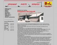 Website Behrens + Lüneburger Baumaschinen (