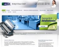 Bild Webseite Bendig & Krause Düsseldorf
