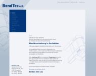 Bild Webseite BendTec Wuppertal