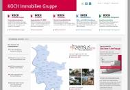 Bild Webseite Koch Hausverwaltung Düsseldorf