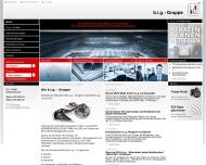 Bild Webseite b.i.g. dienstleistungsmanagement Halle
