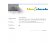 Bild Webseite blau chemie Holger Brügmann e.K Hamburg