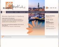 Bild Webseite Blumen - Apotheke Hamburg