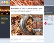 Bild Webseite B. u. F. Metallhandels Hamburg