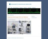 Bild Webseite Bundesverband d. Sachverständigen f. Medizinprodukte Dresden
