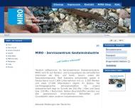 Bild Webseite Bundesverband Mineralische Rohstoffe Köln