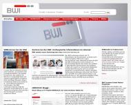 Bild Webseite BWI Services Meckenheim