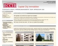 Bild Webseite CCI City First Choice Immobilien Berlin