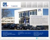 Bild Webseite CPS Systemhaus Stuttgart