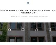 Bild Webseite herr schmidt werbeagentur Frankfurt