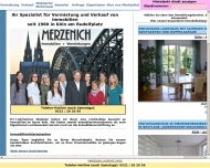 Bild Webseite MERZENICH Immobilien Köln