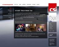 Bild Webseite CSI Entwicklungstechnik München