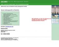 Bild Webseite DEUMIS Facility-Management Köln