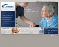 Bild Webseite Curameda Diagnostik MVZ München