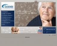 Bild Webseite Curameda München