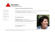 Bild Webseite Genske Immobiliengesellschaft Köln