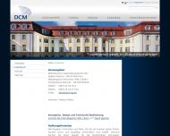 Bild Webseite DCM München