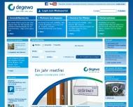 Bild Webseite Degewo-Hausbau Berlin