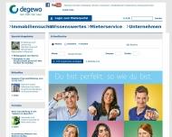 Bild Webseite DEGEWO Dt. Ges. z. Förd. d. Wohnungsbaues, gem. Berlin