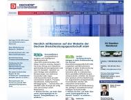 Bild Webseite DECHOW Dienstleistungsgesellschaft Mannheim
