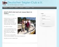 Bild Webseite Deutscher Segler-Club Berlin
