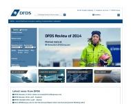 Bild Webseite DFDS Logistics Hamburg