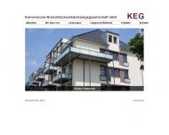 Bild Webseite KEG Konversions-Grundstücksentwicklungsgesellschaft Frankfurt