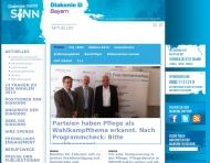 Bild Webseite Diakonisches Werk der Evang. Luth. Kirche in Bayern -Landesverband der Inneren Nürnberg