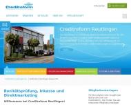 Bild Webseite Creditreform Reutlingen Degner Reutlingen