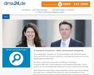 Bild Webseite dima24.de Anlagevermittlung Unterföhring