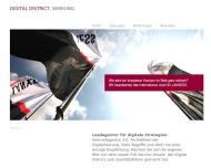 Bild Webseite Digital District Düsseldorf