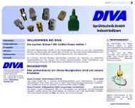 Bild Webseite DIVA-Sprühtechnik Hamburg