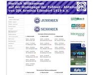 Bild Webseite DJK Arminia Eilendorf Aachen