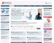 Website Bürgel Wirtschaftsinformationen Vertriebsgesellschaft