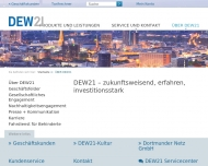 Bild Webseite Dortmunder Energie- und Wasserversorgung Gesellschaft Dortmund