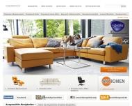 Bild Webseite Ekornes Möbelvertriebs Hamburg