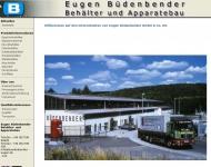 Bild Webseite Eugen Büdenbender Behälter- und Apparatebau Netphen
