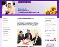 Bild Webseite Evangelischer Pflegedienst München München